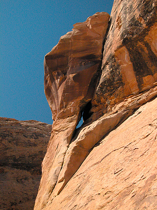 Swirled Arch, Black Dragon Wash, San Rafael Swell, Utah